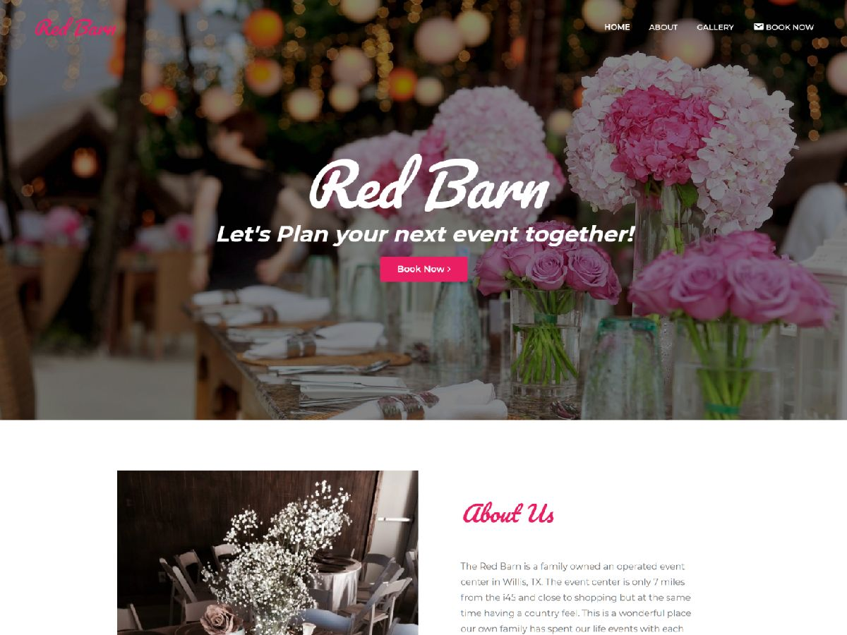 Rent My Red Barn feature web design conroe