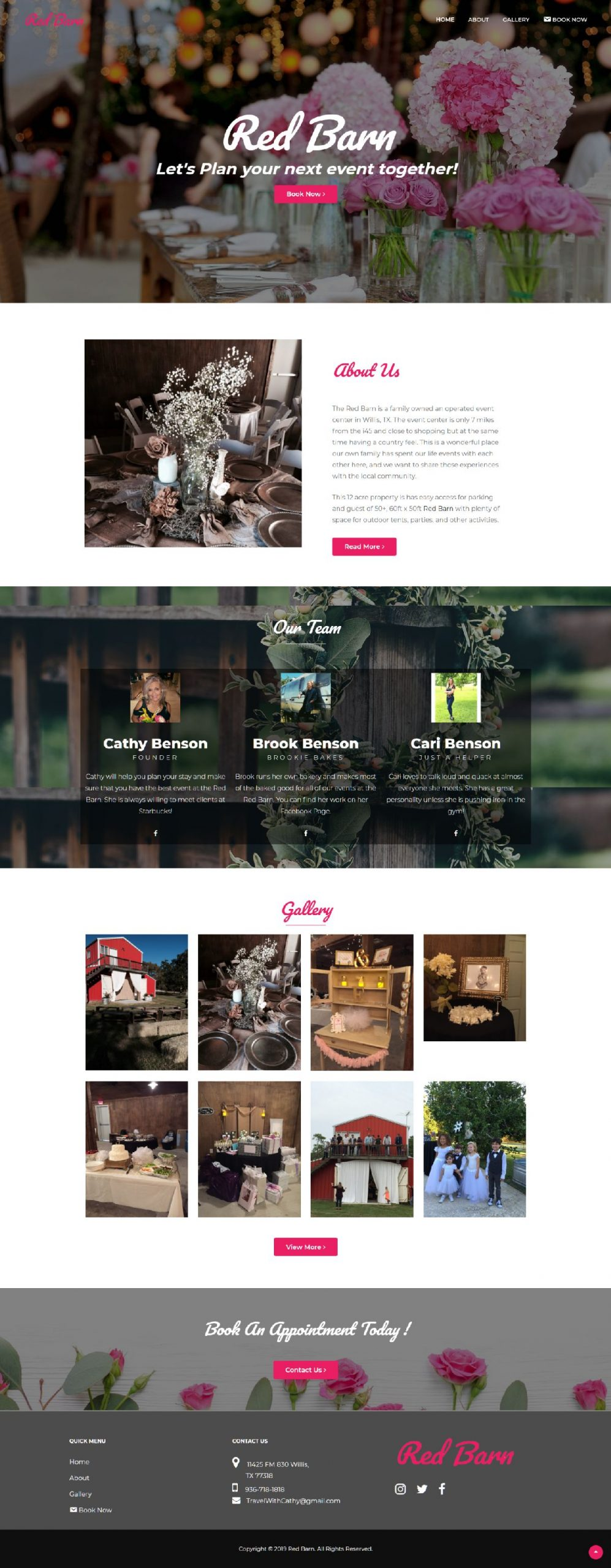Rent My Red Barn local business web design conroe